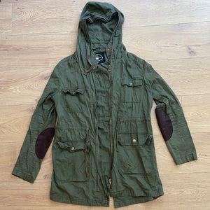 Forever 21 long hooded utility jacket